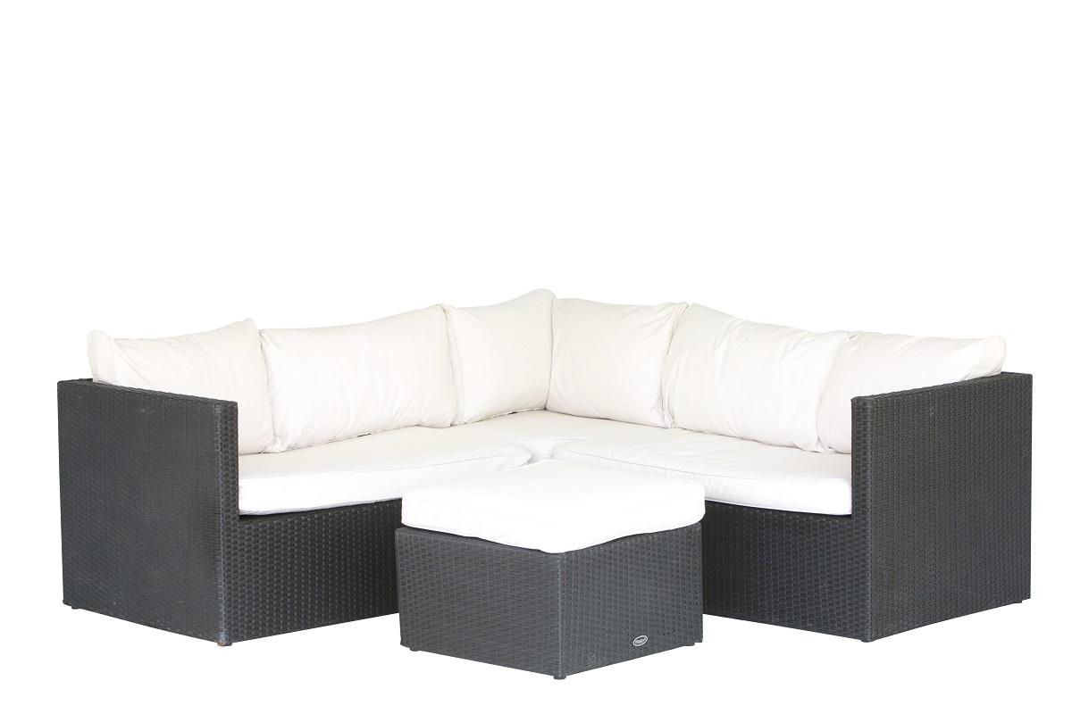 Black Corner Rattan Sofa