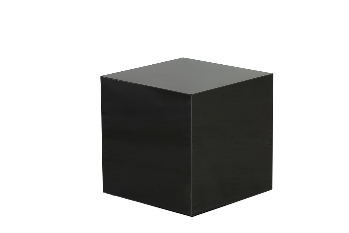 Black Perspex Cube Table