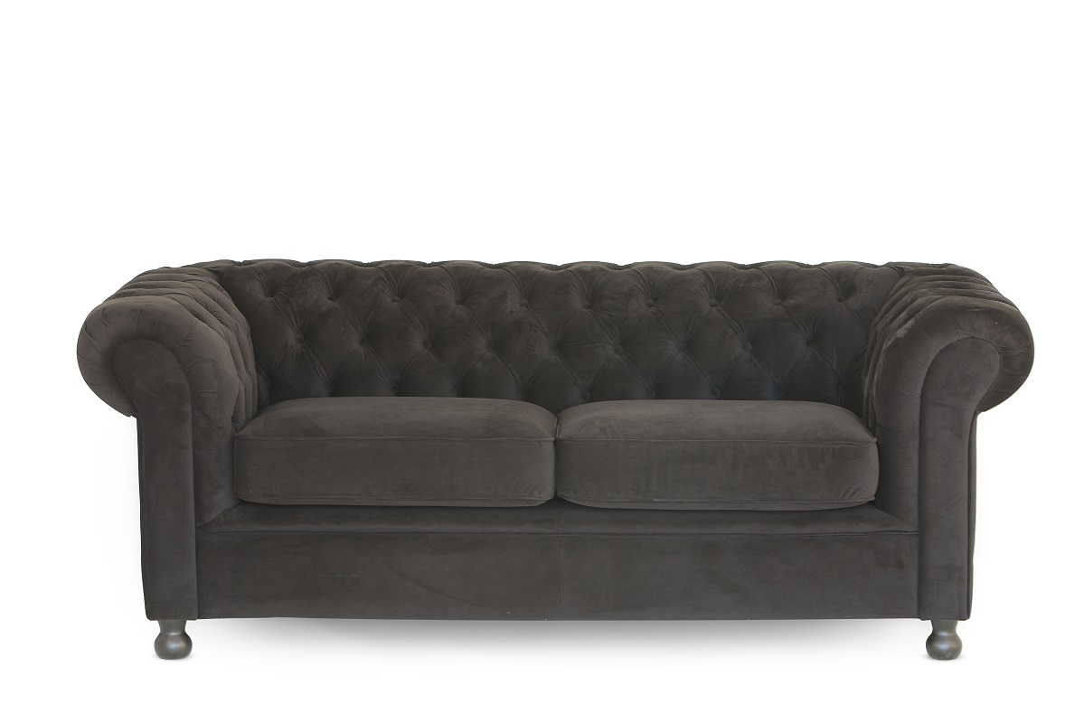 Black Chesterfield Sofa (2 Cushion)