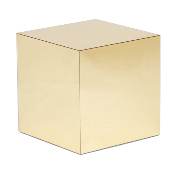Gold Mirror Cube Table