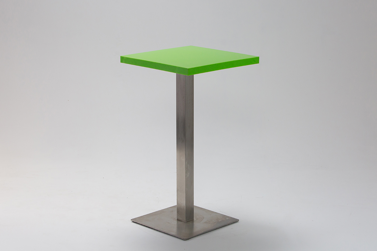 Green Perspex Bar Table