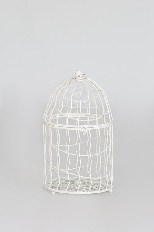 Ivory Wavy Bar Birdcage
