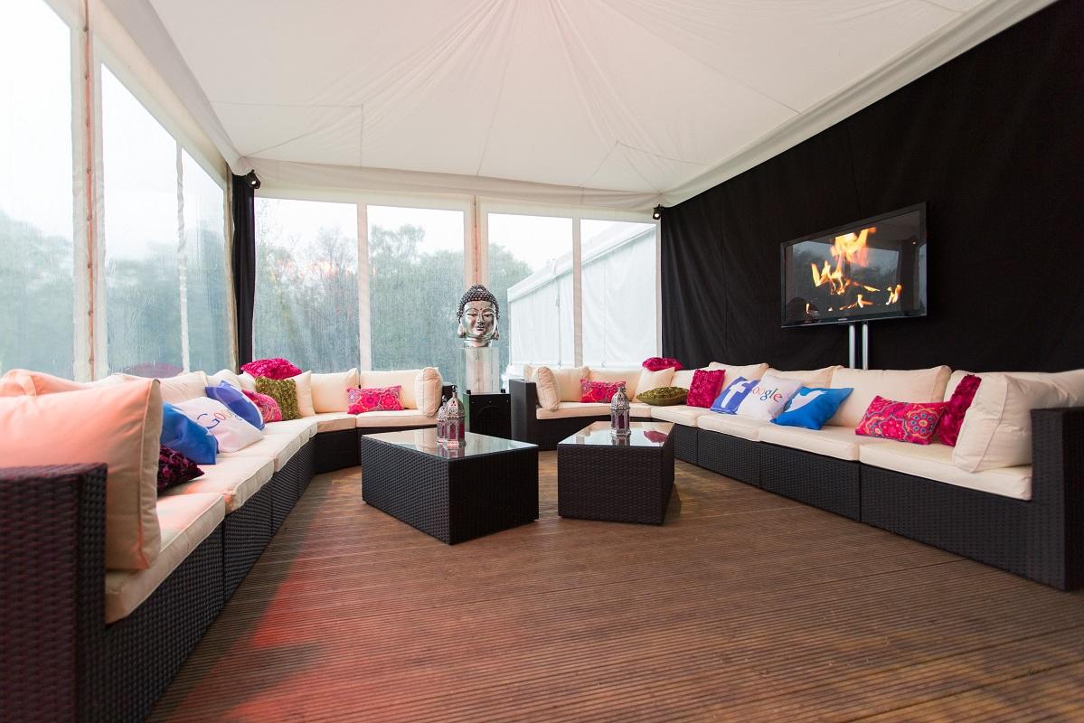 Black Modular Rattan Sofa