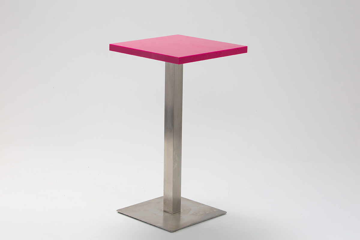 Pink Perspex Bar Table
