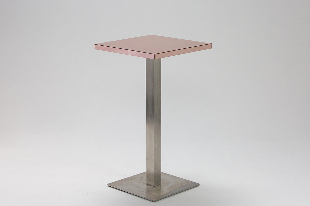 Rose Gold Mirror Bar Table