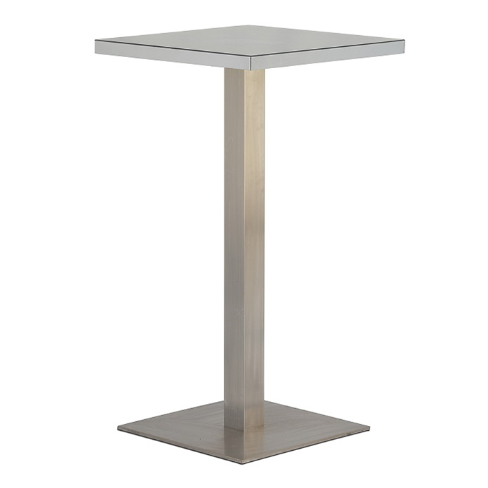 Silver Mirror Square Bar Table