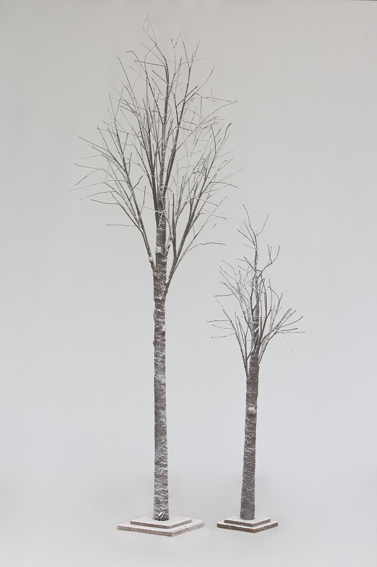 Snow Twig Tree Pair