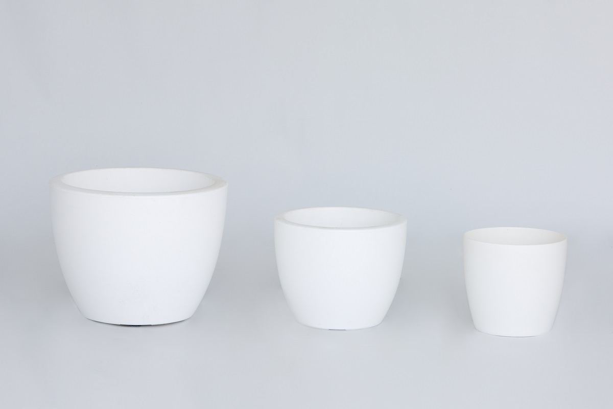 White Low Elho Planter Set