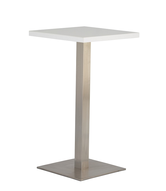 White Square Bar Table
