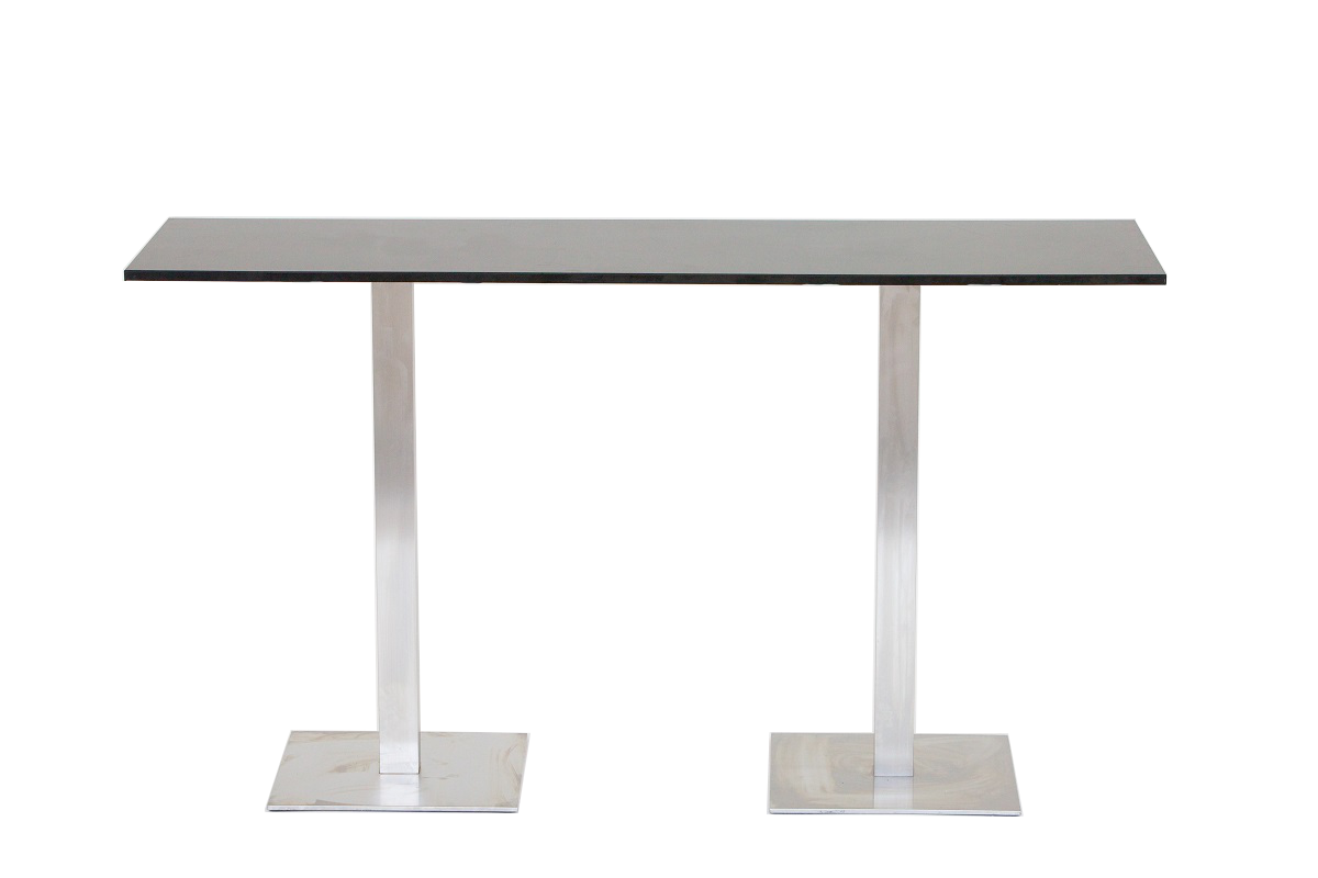 Black 2m Bar Table