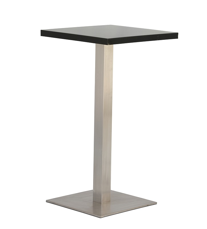 Black Square Bar Table