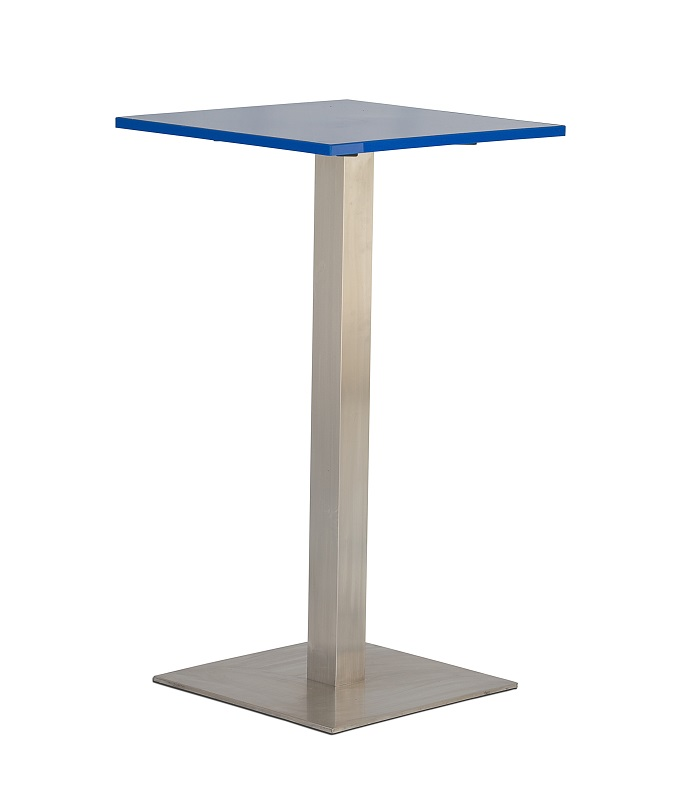 Blue Square Bar Table