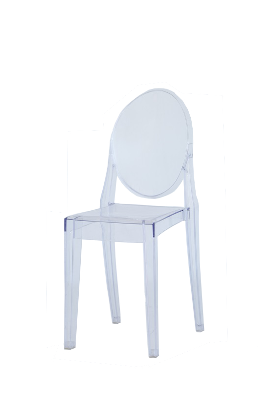 Clear Perspex Dining Chairs - Fresh Event Hire