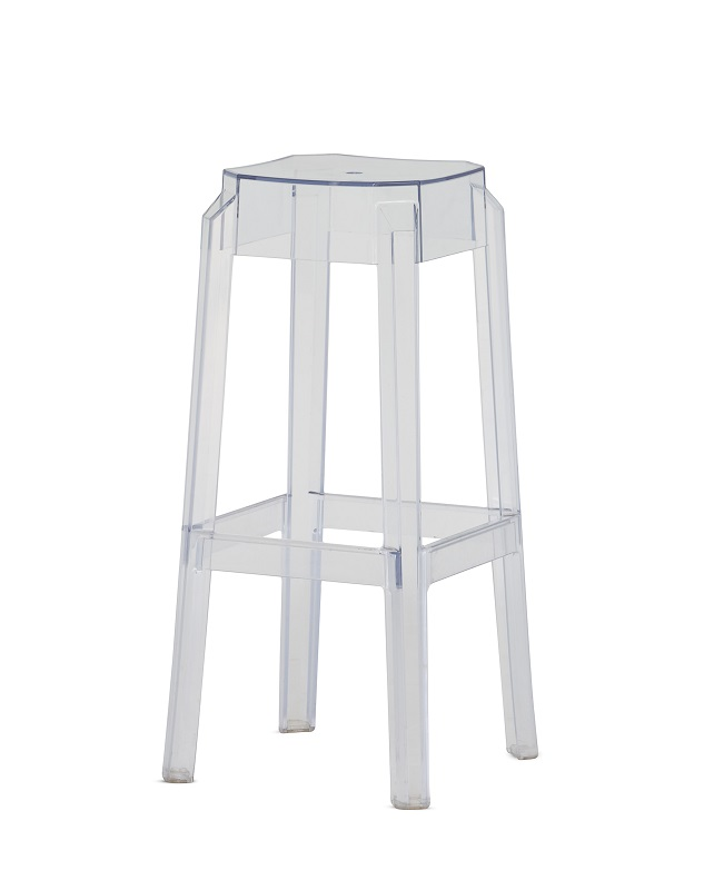 Clear Perspex Square Bar Stool