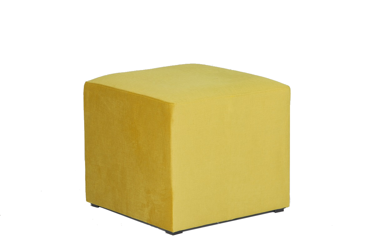 Gold Cube Stool Seat