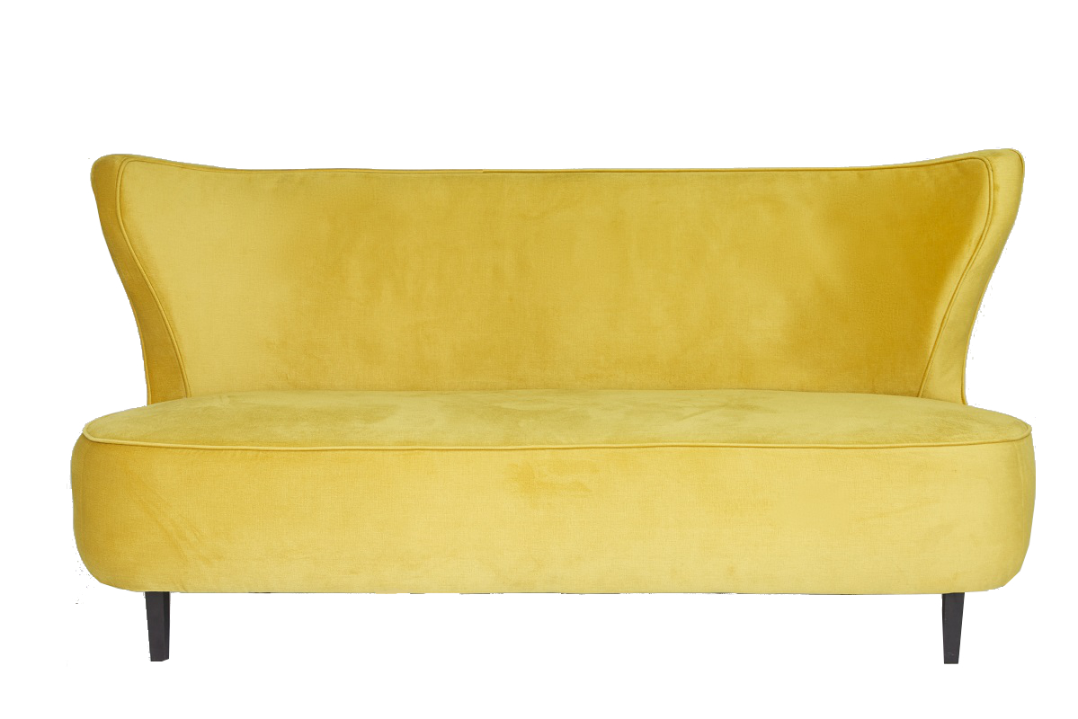 Gold Curve Back Sofa