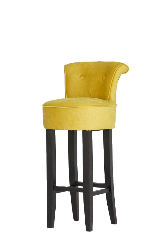 Gold Upholstered Bar Stool