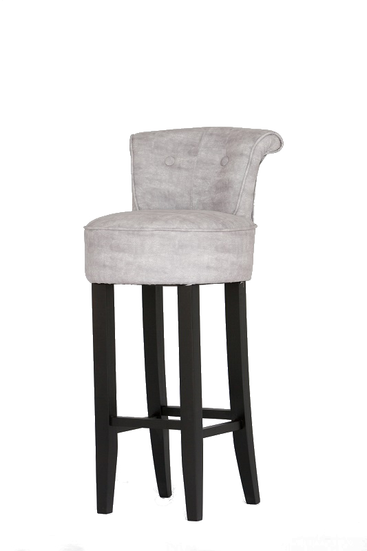Grey Upholstered Bar Stool