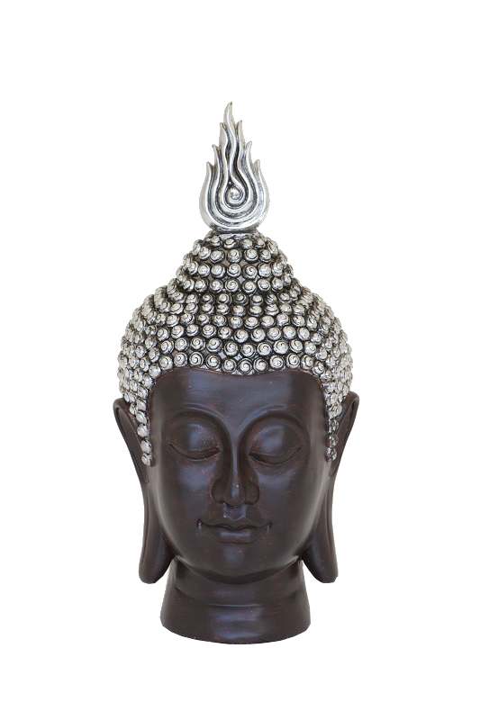 Large Brown Buddha Head