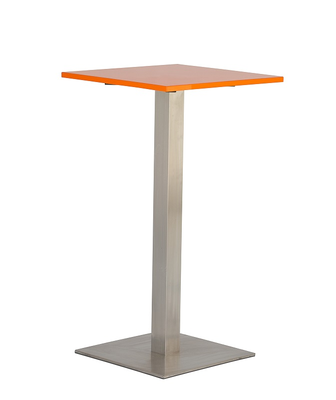 Orange Square Bar Table