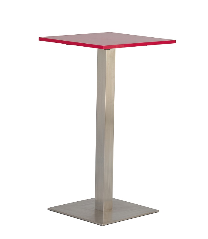 Pink Square Bar Table