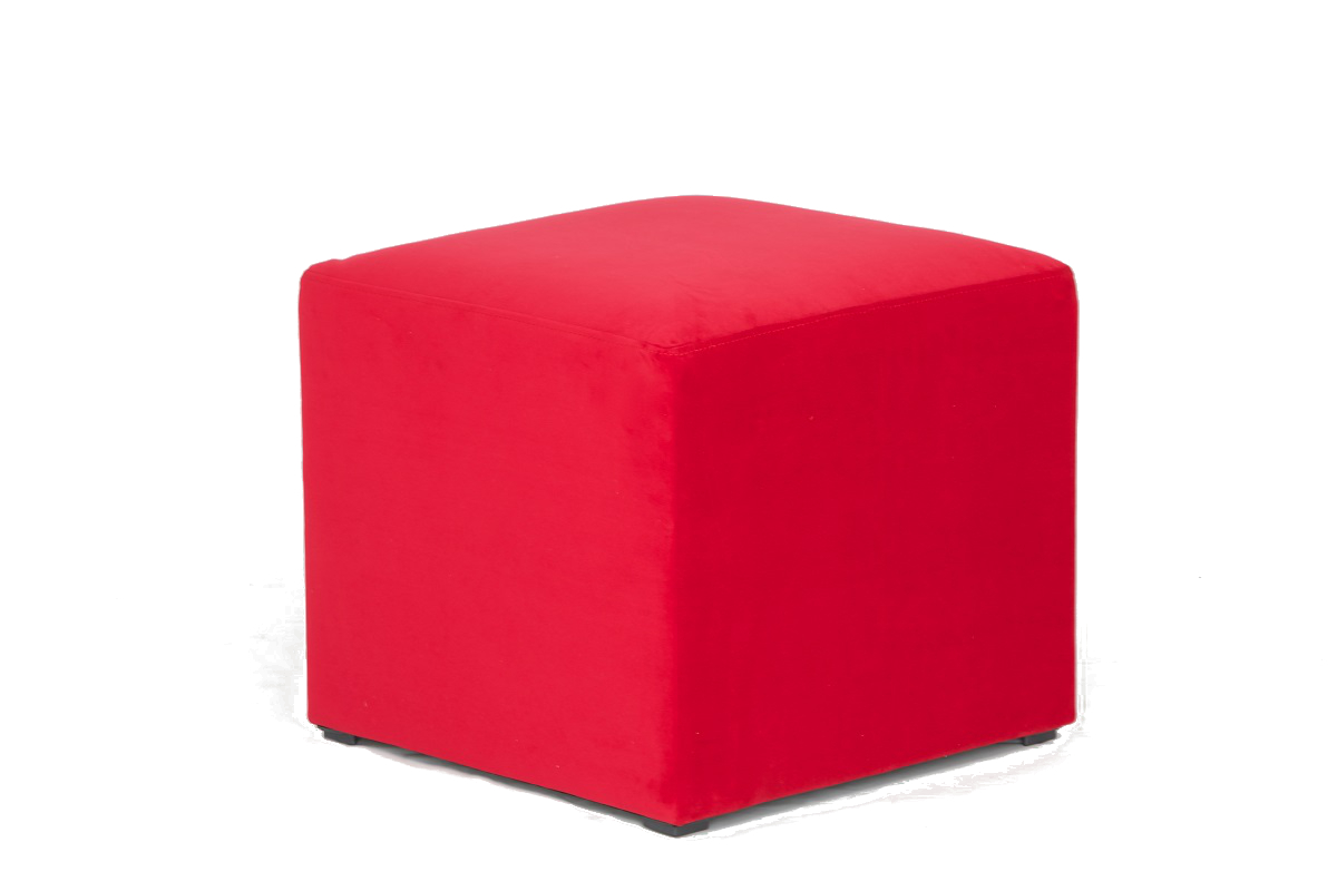Red Cube Stool Seat
