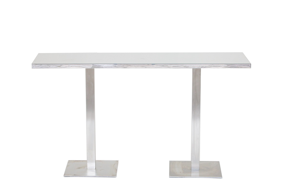 Silver 2m Bar Table