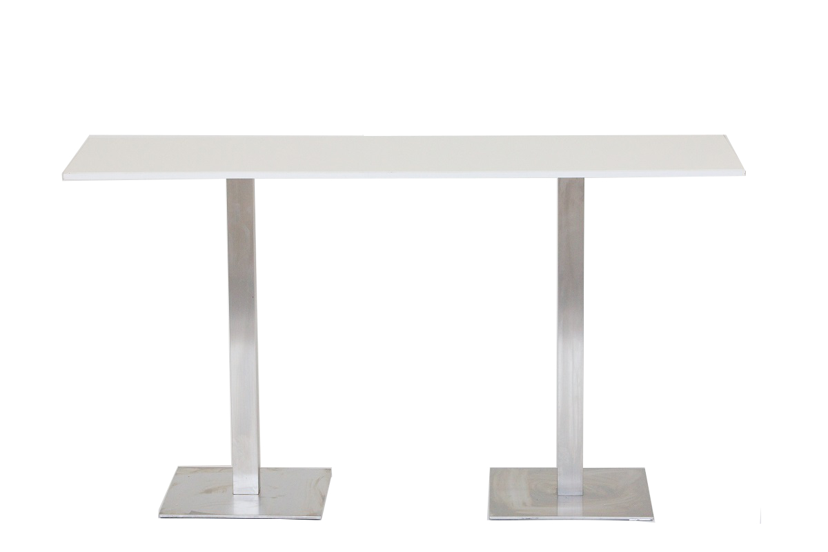 White 2m Bar Table