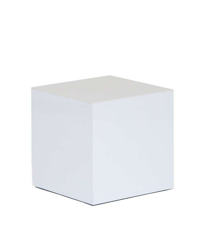 White Perspex Cube Table