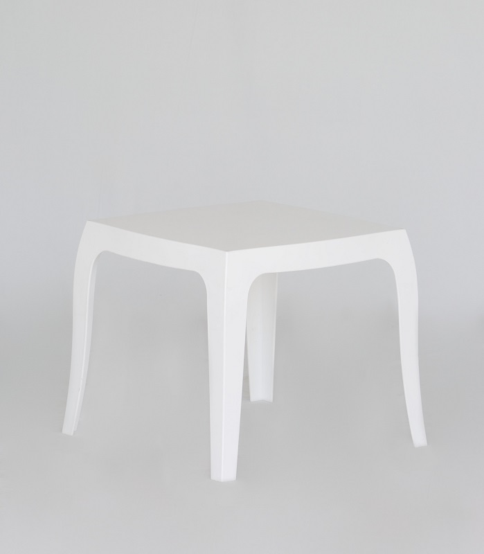 White Perspex LowTable