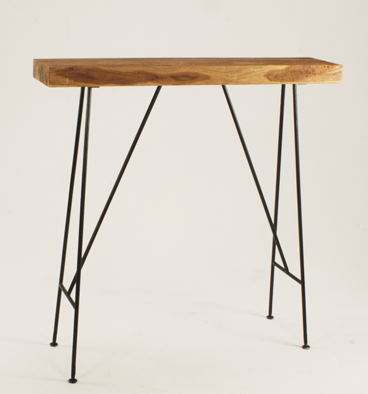 Narrow Teak Drinks Table