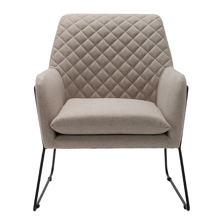 Beige Linen Armchair
