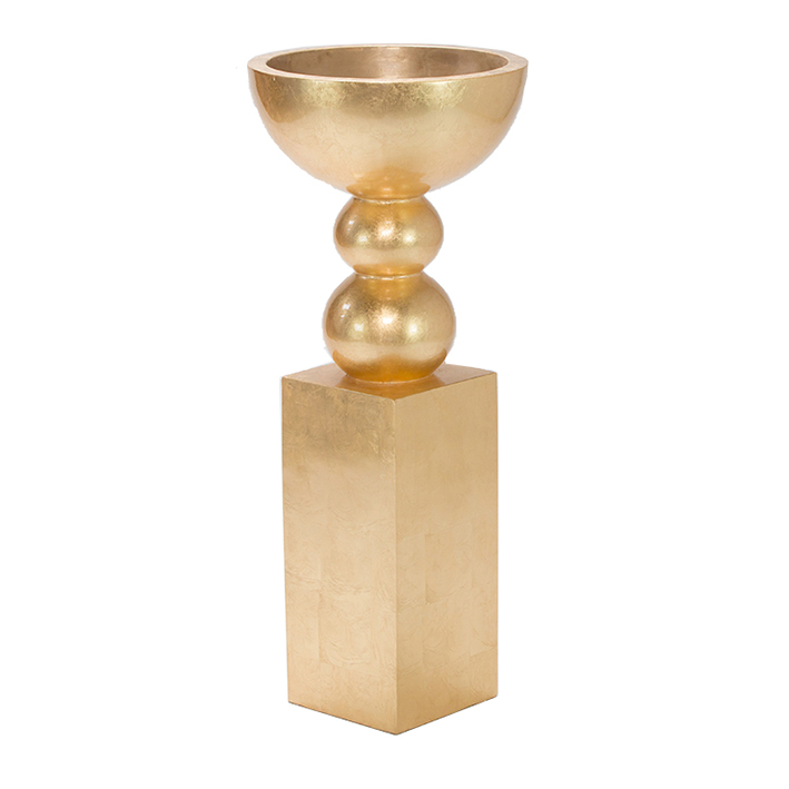 Gold Urn on Gold Plinth