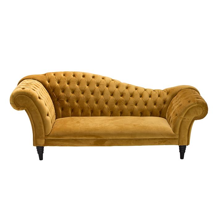 Gold Velvet Chesterfield