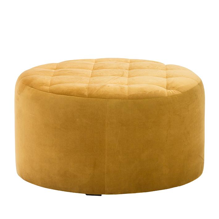Gold Velvet Pouffe