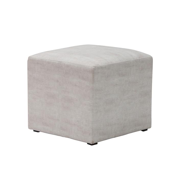 Ivory Velvet Cube Seat