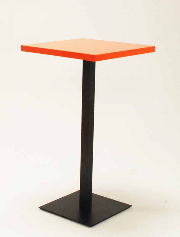 Orange Perspex Bar Table