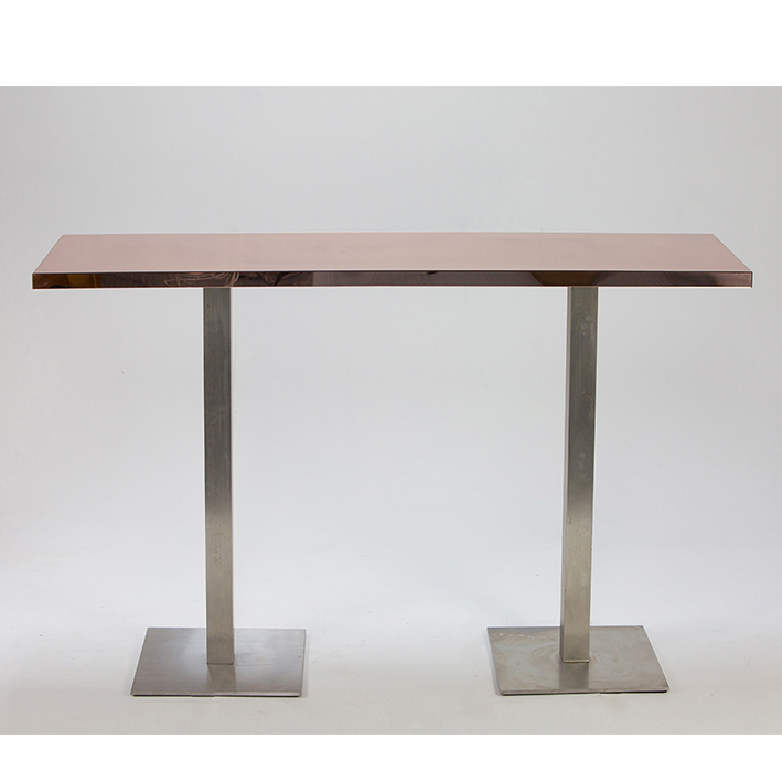 Rose Gold Mirror Bar Table 2m