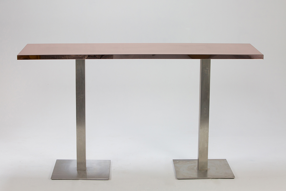 Rose Gold Mirror Bar Table 2m