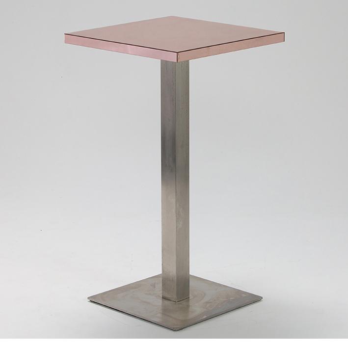 Rose Gold Mirror Bar Table