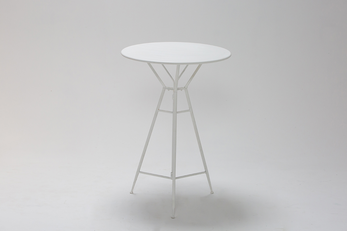 White Metal Bar Table