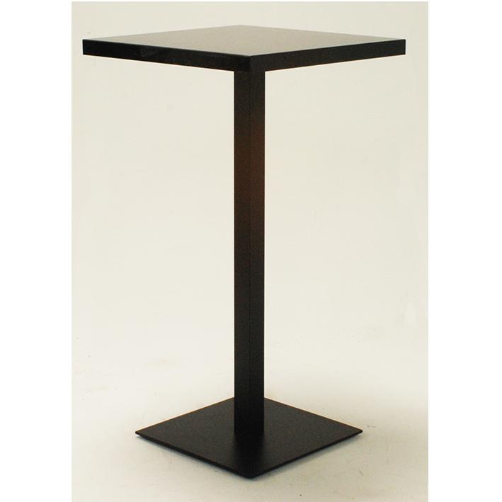 Black Square Bar Table with Black Base