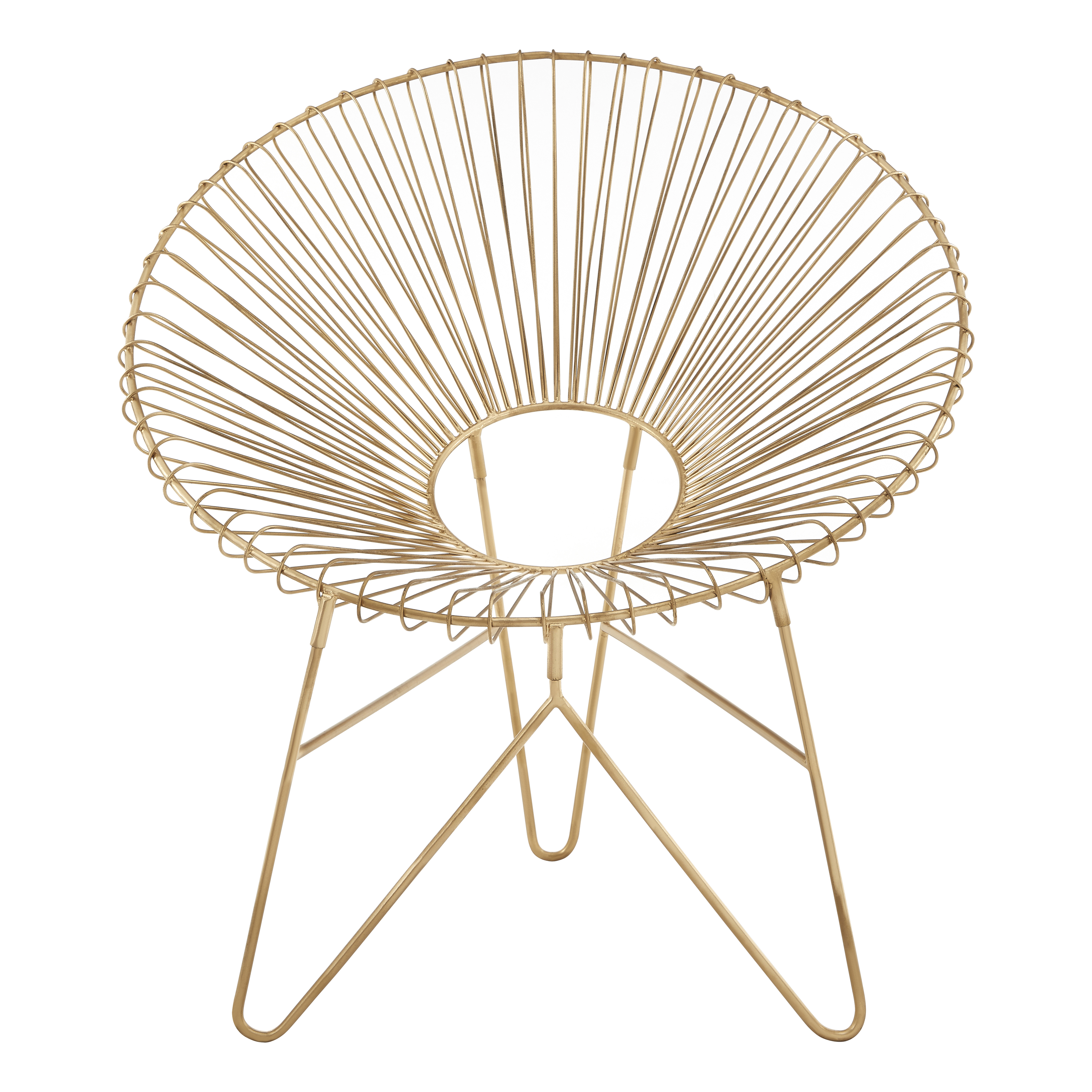 Gold Metal Chair