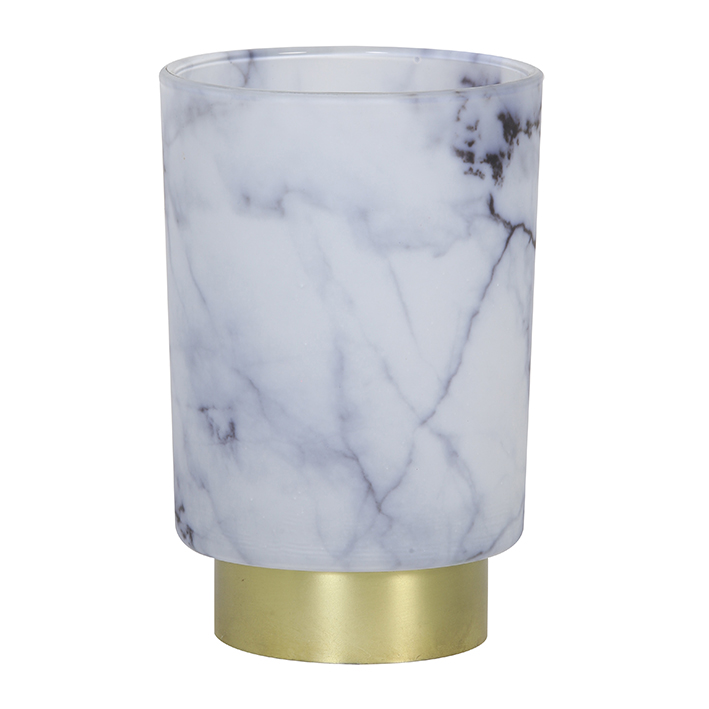 Grey Marble Battery Table Lamp