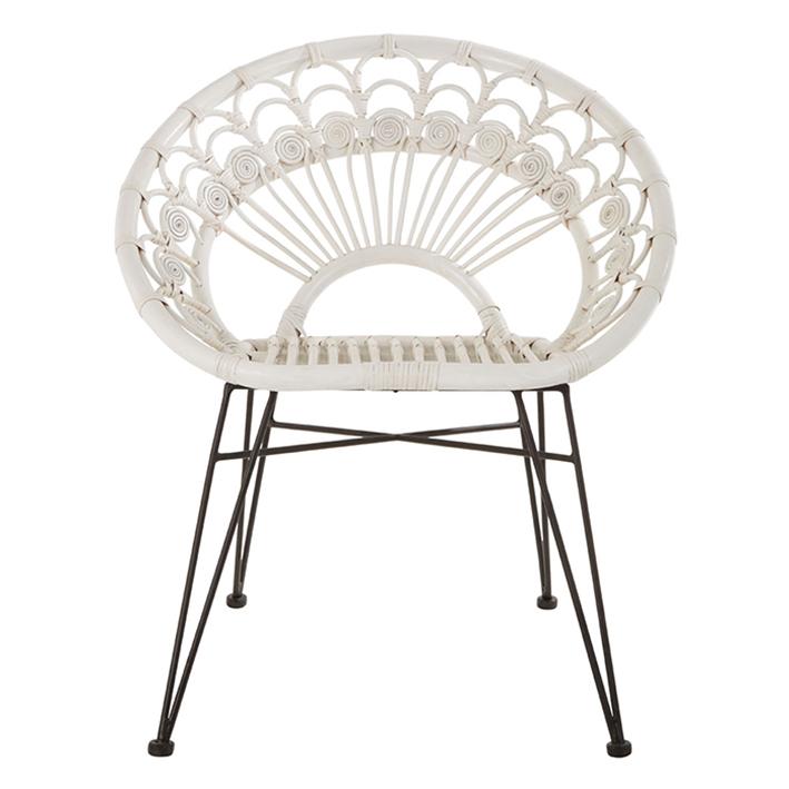 White Woven Chair