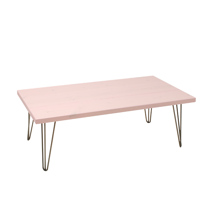 Soft Pink Low Table