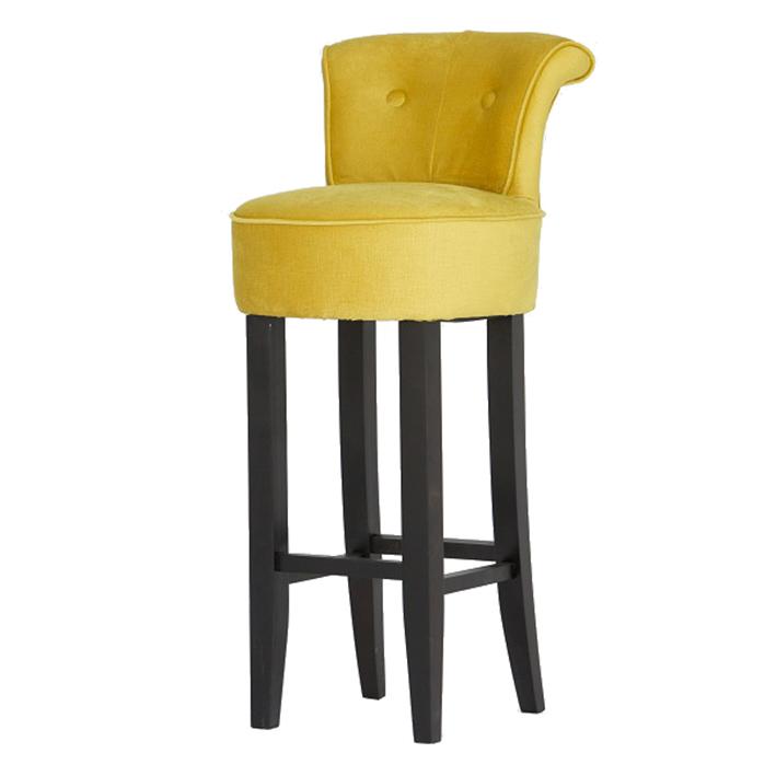 Gold Upholstered Bar Stool