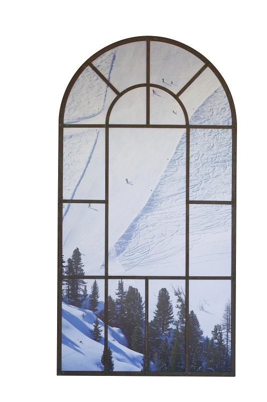 Alpine Scene Arch Mirror