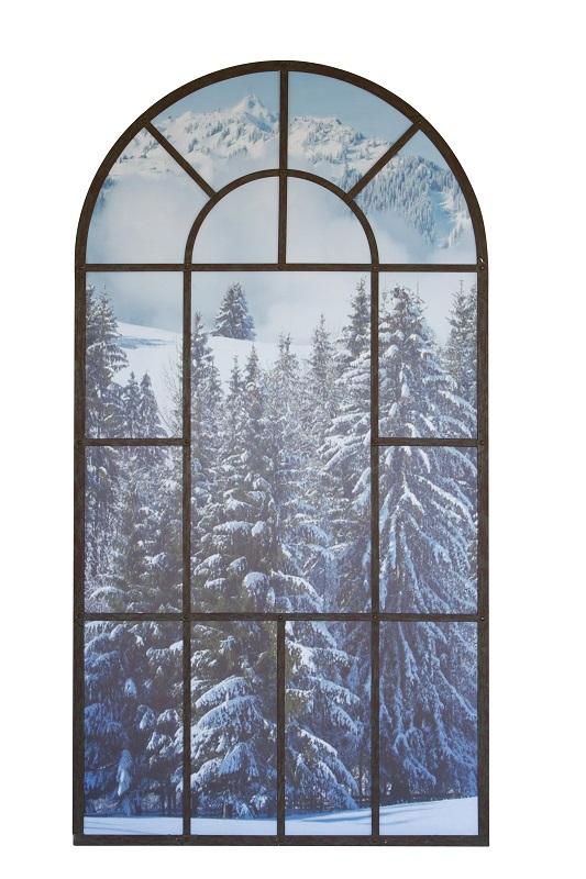 Woodland Scene Arch Mirror