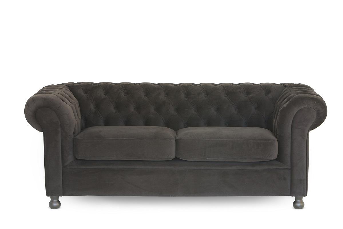 Black Chesterfield Sofa (2 Cushion)